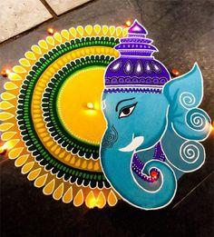 Ganesh Chaturthi Special Rangoli