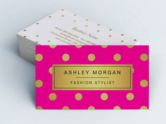 Gold Glitter Polka Dots - Stylish Beauty Pink Double-Sided ...