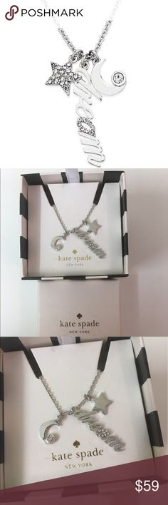Kate Spade - NWT 12K Gold 'Dream' Necklace Kate Spade - NWT 12K Gold 'Dream' Necklace with Gift Box. Perfect gift for the graduate in your life! kate spade Jewelry Necklaces