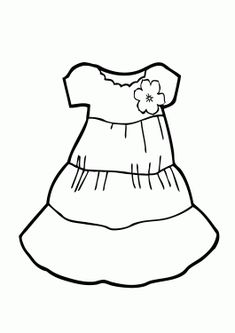 Light Dress Coloring Page For Girls Printable Free
