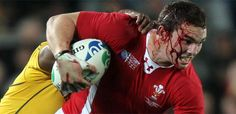 There is a difference between football and rugby, don´t you think?  A rugby player, George North.