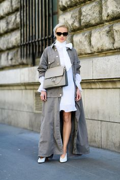 The Best Street Style from Paris Fashion Week - ELLE.com Pinterest: KarinaCamerino