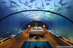 The underwater suite at the Conrad Maldives