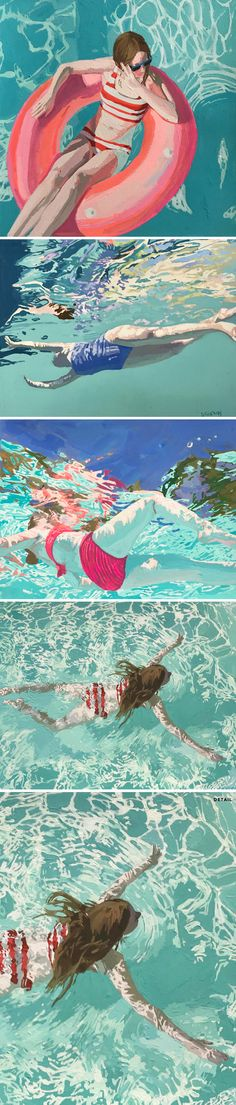 Sigh. I have loved the work of Brooklyn based painter Samantha French for YEARS. Now, Sam is known for her large-scale, underwater oil paintings, which I've written about several times and even had he