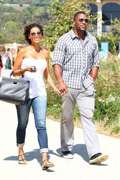 Casual summer (Michael Strahan and Nicole Murphy) My Black Is Beautiful, Black Love, Beautiful People, Nicole Murphy, Michael Strahan, Hollywood Couples, Celebrity Couples, Casual Outfits, Men Casual