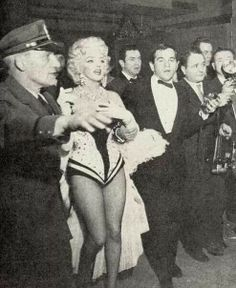 Marilyn Monroe at the Ringling Brothers Circus Charity Gala, Madison Square Garden, March 1955