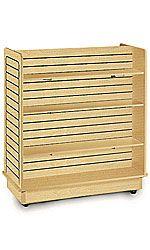 Maple+Slatwall+Gondola+with+6+Shelves+-+24''+x+48''+x+48''