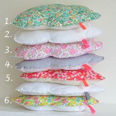 Cloud cushions--so cute with vintage fabrics.