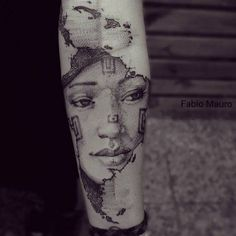 """America latina"". Sketch work style map of South America on the left inner forearm. Tattoo Artist: Fabio Mauro"
