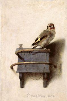 Carel Fabritius, Il cardellino, 1654  See more at: http://www.tripartadvisor.it/il-mito-della-golden-age-vermeer-rembrandt/