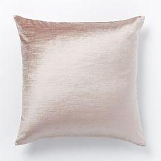 Luster Velvet Pillow Cover - Dusty Blush #westelm