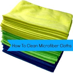 How to Clean Microfiber Cloths - Housewife How-To's®