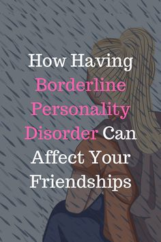 Although it might have an impact, a BPD diagnosis doesn't automatically make you a 'bad friend'. For years, I was convinced that I was undeserving of friends. It seemed like the only rational explanation for why I was so unusually adept at losing them. Bad Friends, Losing Friends, Bpd Diagnosis, Borderline Personality Disorder Symptoms, Bpd Symptoms, Bad Person, Human Mind, Bipolar, Adhd