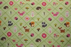 Forest Friends  flannel  BTY  1 yard by Sweetbobbinsfabric on Etsy, $8.25