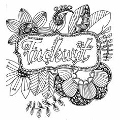 Coloring Pages To Print Printable Sheets Adult Books Colouring Swear Word Book Colour