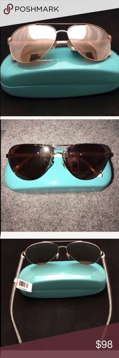 Kate Spade Sunglasses NWT/Blossom. Rose Gold Kate Spade Sunglasses NWT/Blossom. Rose Gold. Mirrored Aviators. Case included. 2nd photo flash on. NO TRADES. kate spade Accessories Sunglasses