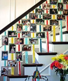 Photo-Adorned Stairs   Personalize your celebration with these easy-to-make ideas.