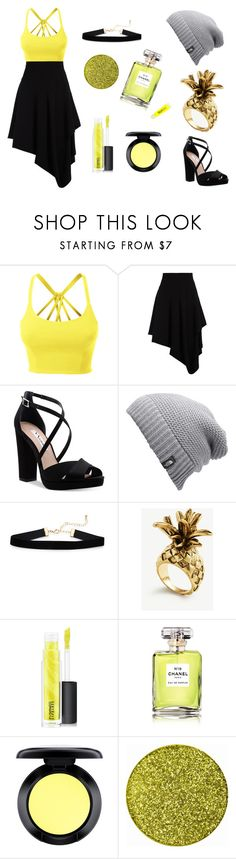 """""""#bumblebeelife"""" by fashionisata ❤ liked on Polyvore featuring beauty, LE3NO, J.W. Anderson, Nina, The North Face, Ann Taylor, MAC Cosmetics, Chanel and bublebeelife"""
