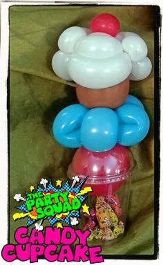 Cool Balloon Candy Cups Twisted by Ditzy Doodles http://www.thepartysquad.co.uk/ http://www.facebook.com/ThePartySquadUK/