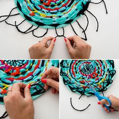 Take note! this is how to make a diy notebook brit + co yarn Food Crafts, Yarn Crafts, Decor Crafts, Crafts For Teens, Crafts To Sell, Diy And Crafts, Diy Tassel, Diy Notebook, Weaving Projects