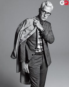 Best Gray Suits Modeled by John Slattery of Mad Men