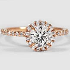Rose Gold Diamond Ring - so sparkly and gorgeous!