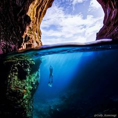Cave Diving in Hawaii Photo by Cully Kamisugi