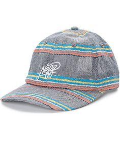 Saltar en verano con los dos pies con este gorra de beisbol Stacy lavaron negro y multi de la raya por Neff. El color turquesa lindo, amarillo rayas, blanco y coral pop de la base negro en este sombrero de béisbol de Neff. Una manera sutil para añadir u