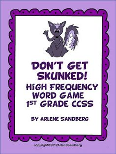"Want Your Students to Earn the ""Funky Spunky Sweet Smelling Skunky "" Award for Reading their Sight Words? Check out this Fun Free Game!"