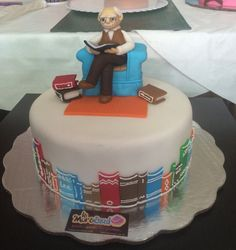 Fondant Grandpa cake. At the library.