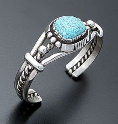Will Vandever (Navajo) - Elgin #8 Turquoise & Sterling Silver Cuff Bracelet #30315 $420.00 at Castle Gap Jewelry