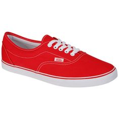 Vans LPE Canvas Trainer - Red found on Polyvore