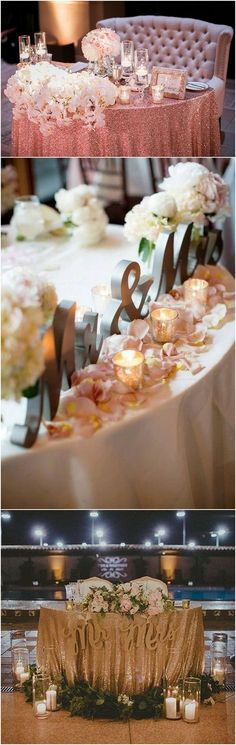 wedding sweetheart table decorations