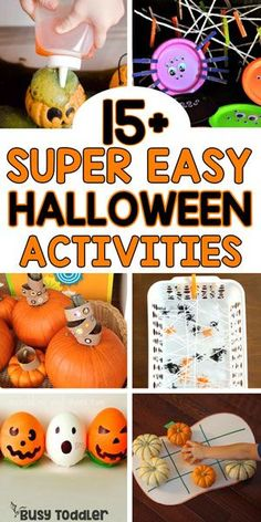 Looking for some Halloween activities for toddlers? Check out this awesome list of Halloween toddler activities! Quick and easy activities for toddlers! Quick Halloween Crafts, Fun Halloween Games, Halloween Kids, Halloween Cookies, Happy Halloween, Halloween Decorations, Halloween Activities For Toddlers, Toddler Activities, Sensory Activities