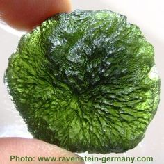 Moldavite (Czech: Vltavín) is an olive-green or dull greenish vitreous substance possibly formed by a meteorite impact, which would make it one kind of tektite.