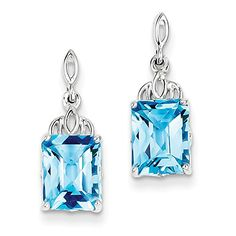 925 Sterling Silver Rhodium-plated Rectangle Blue Topaz Post Dangle Earrings Venture Gemstone Jewelry Collection http://www.amazon.com/dp/B00PDBDBTI/ref=cm_sw_r_pi_dp_yC12wb1GEW8QH