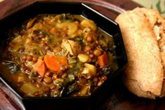 This delicious original lentil stew recipe is a wonderful winter treat. Lentils are my favorite legume--filling and packed with protein and nutrients. The potatoes make this stew even heartier and the winter kale boosts the flavor and nutrition. Serve with whole grain bread or rolls for a very filling vegetarian meal!