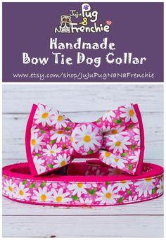 dog S nantlle Dog Collar Boy, Girl Dog Collars, Puppy Collars, Batman Dog Costume, Fancy Dog Collars, Pink Daisy, Pink Dog, Girl And Dog, Dog Bowtie