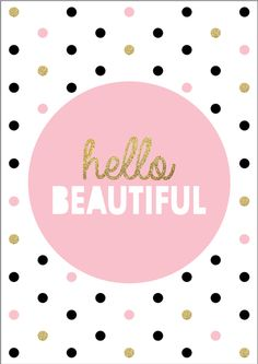 Hello Beautiful Print by Ginger Monkey