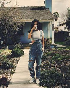 Jeans: overalls selena gomez instagram denim crop tops top
