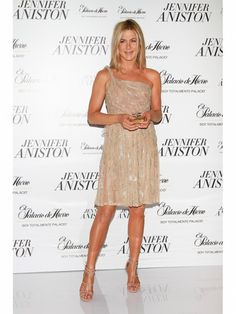 Jennifer Aniston Style Trick: Go Nude Jennifer embodied ladylike sex appeal while promoting her namesake fragrance. Key to the look's success? Dressing head to toe in a nude hue that lengthened her frame while hinting at what's underneath.  Photo Credit: Getty Images (Courtesy: iVillage)  via @AOL_Lifestyle Read more: http://www.aol.com/article/2012/10/16/jennifer-aniston-style-her-best-fuss-free-fashion-looks/20503354/?a_dgi=aolshare_pinterest#fullscreen