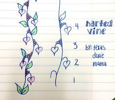 Harted Vine~Zentangle