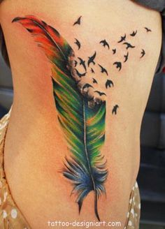 feather tattoo tattoos idea art design style picture image http://www.tattoo-designiart.com/tattoos-designs-for-girls/feather-tattoo-design-44/