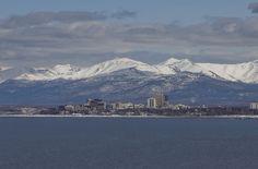 Anchorage, Alaska    Anchorage, AK Cityscape via Cook Inlet by hawkmoon13, via Flickr