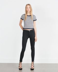 Image 1 of LOW WAIST STRETCH JEGGINGS from Zara