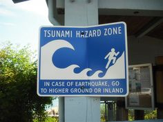 Tsunami Hazard Zone Sign, Haida Gwaii ~ Photo by K. Gagne