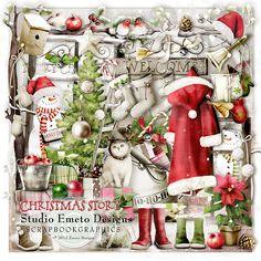 Christmas Story By Emeto Designs @ Scrapbookgraphics. A Christmas Story, Christmas Colors, Christmas Wreaths, Scrapbook Designs, Scrapbook Embellishments, Altered Art, Digital Scrapbooking, Clip Art, Album