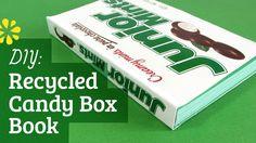 DIY Recycled Candy Box Book | Perfect Bookbinding Tutorial | Sea Lemon