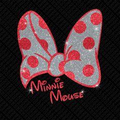 Minnie Mouse Disney Glitter Vinyl Iron On Transfer - DIY Heat Transfer