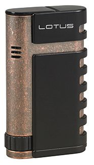 Lotus Mercury Twin Torch Flame Cigar Lighter with Punch in Black Matte & Antique Copper Finish Tobacco Shop, Cigar Shops, Premium Cigars, Cigar Lighters, Matte Red, Antique Copper, Mercury, Lotus, Punch